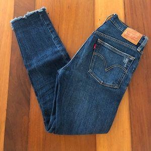 Levi's Jeans - Levis 501 Skinny Blue Jeans Button Fly (W25, L28)